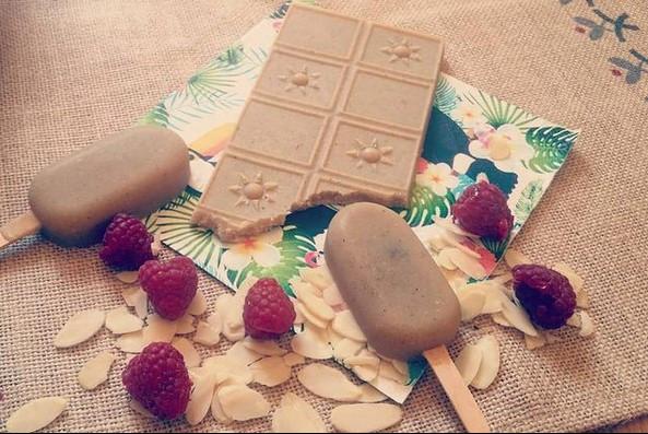 tablette chocolat blanc noix de cajou vegan cru rawfood
