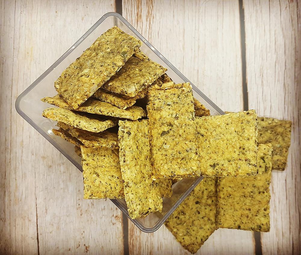 crackers graines thym romarin vegan sans gluten