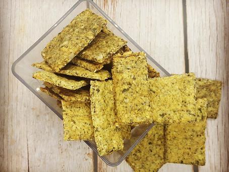 Crackers aux graines au thym et au romarin (vegan, sans gluten)