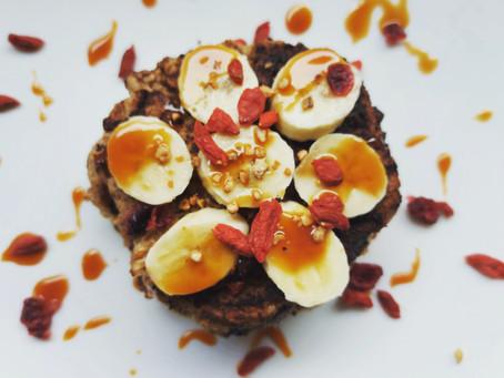 Pancakes express healthy, avoine et chocolat