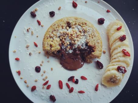 Bowl cake cœur coulant chocolat (au four, sans gluten)