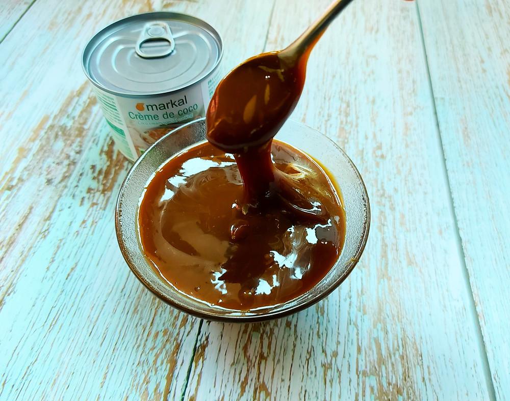caramel lait de coco vegan sans lait sans plv