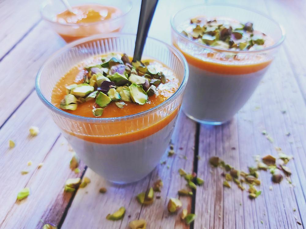 mahalabia abricots vegan sans lait sans plv