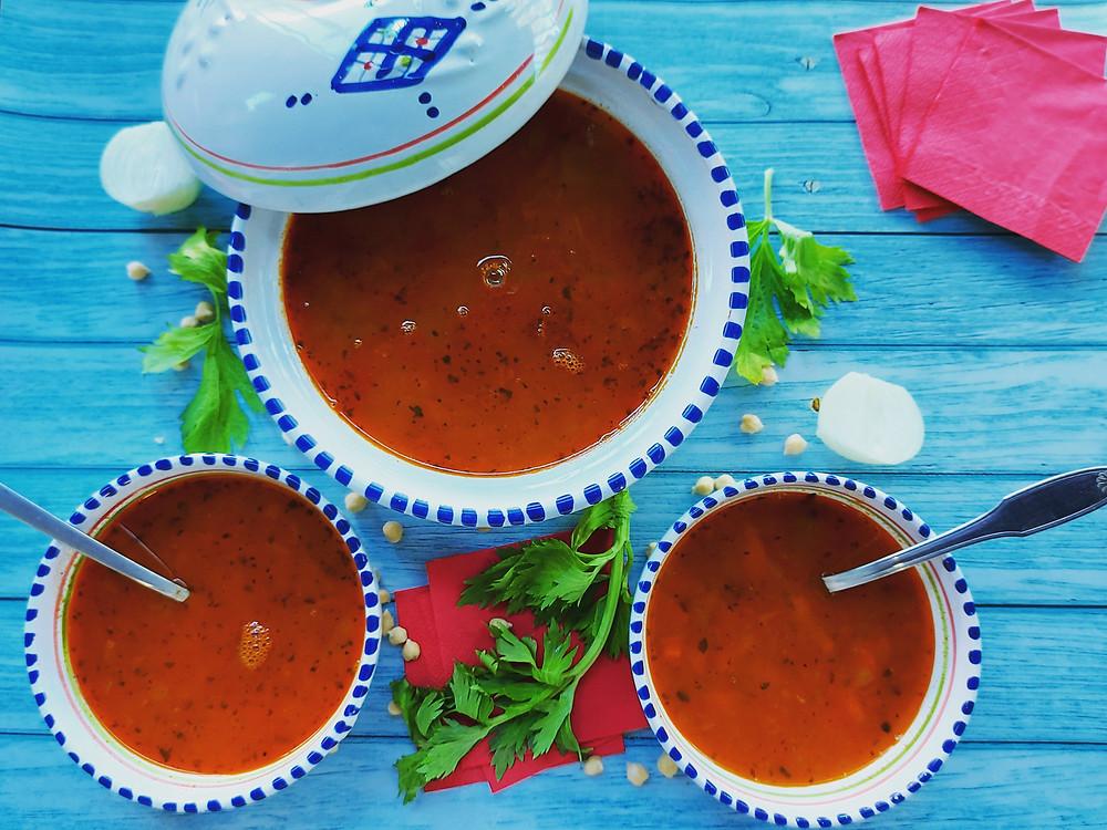 harira ramadan vegan soupe orientale sans gluten