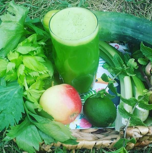 jus céleri pomme concombre extracteur de jus vert