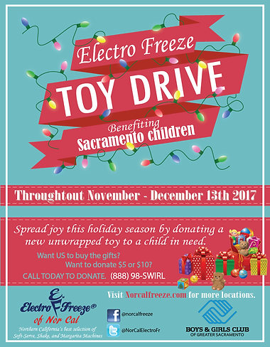 Electro Freeze of NorCal Toy Drive benefiting Sacramento Children Boys & Girls Club of the Greater Sacramento