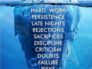 Success is no luck but hard work