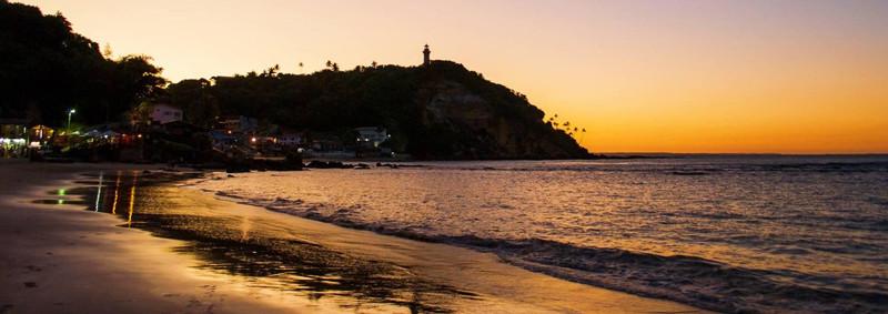 Segunda praia e o Belo por do sol em Morro de São Paulo