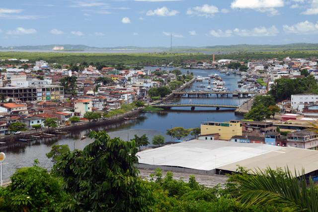 Vista da cidade de Valença na Bahia