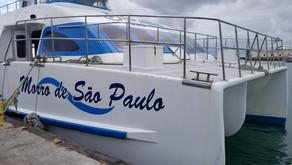 Quais são os pontos de apoio das companhias que fazem a travessia de catamarã?