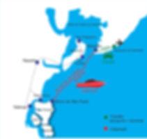 Mapa catamarã Morro de São Paulo