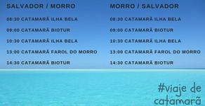 Quais os melhores horários do catamarã de Salvador para Morro de São Paulo?