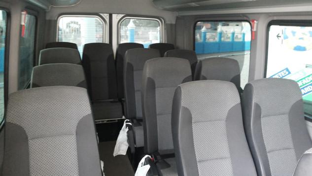 Parte interna da Van