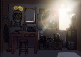 Mickey Room Illustration