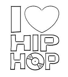 I Love Hip-Hop Coloring Sheet