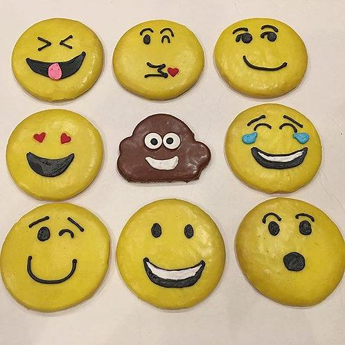 Emoji Iced Sugar Cookie Assortment of 12