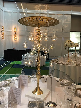Gold Candelabra Floating Candles