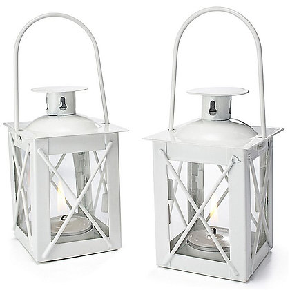 Mini White Hanging Lanterns