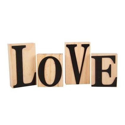 Wooden LOVE Blocks