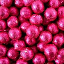 Foiled Gumballs - Pink 1kg