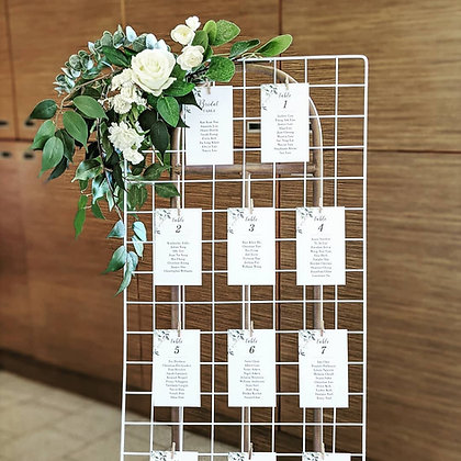 White Grid Seating Chart