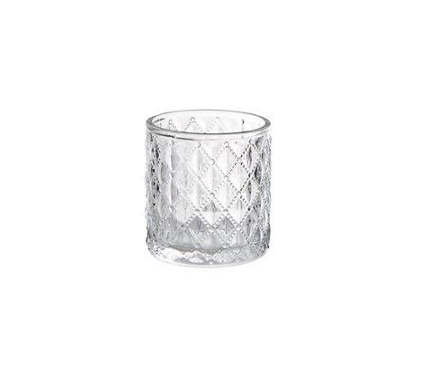Glass tea light candle holders