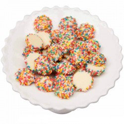 White Chocolate Freckles - Rainbow 1kg