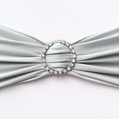 Silver Diamante Chair Sash