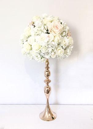 White Elegant Silk Floral Centrepiece