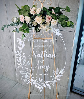 Clear Acrylic Welcome Sign