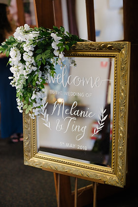 Welcome sign board