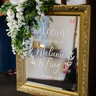 Welcome Sign Mirror