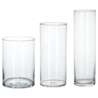 3 cylindrical vase set
