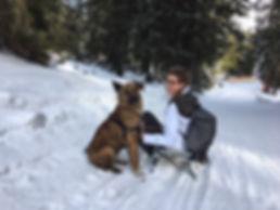 Hund_Stürmi_mit_Michelle_Schlitteln_Flum