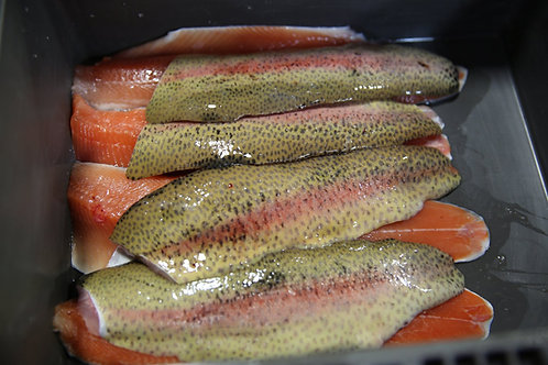 Red Rainbow Trout Fillets 5 pound Box