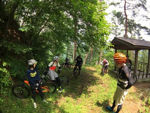 昼食後にはガイド付き林道ツアーもあり!