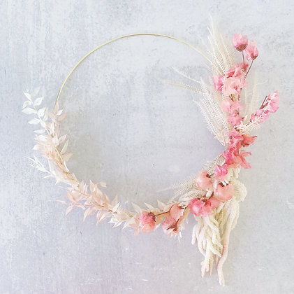 A Pink Mood Wreath