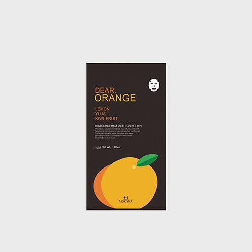 모크샤 디어.오렌지 마스크 / Dear.Orange facial sheet mask 25g