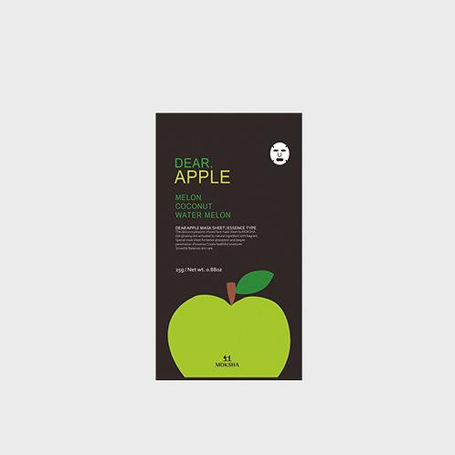 모크샤 디어.애플 마스크 / Dear.Apple facial sheet mask 25g