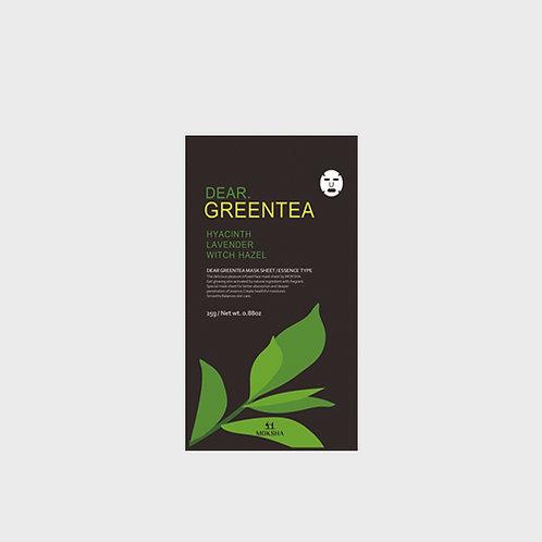 모크샤 디어.그린티 마스크 / Dear.Greentea facial sheet mask 25g