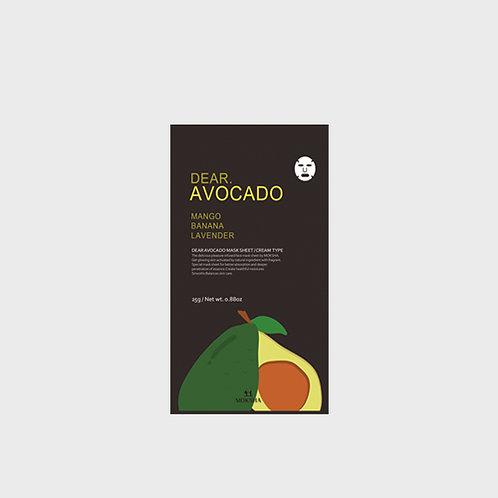 모크샤 디어.아보카도 마스크 / Dear.Avocado facial sheet mask 25g
