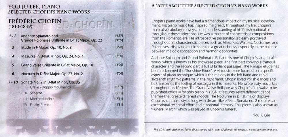 Dr. Lee CD liner notes