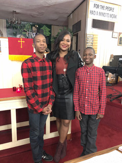 Thamicha Isaac And Her Sons