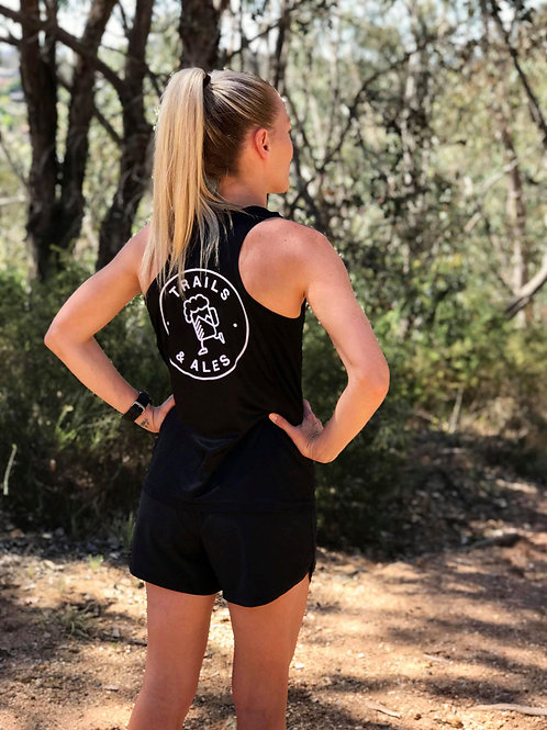 Women's Running Singlet BLACK