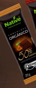 Chocolate Orgânico 50% Cacau 25 g Native