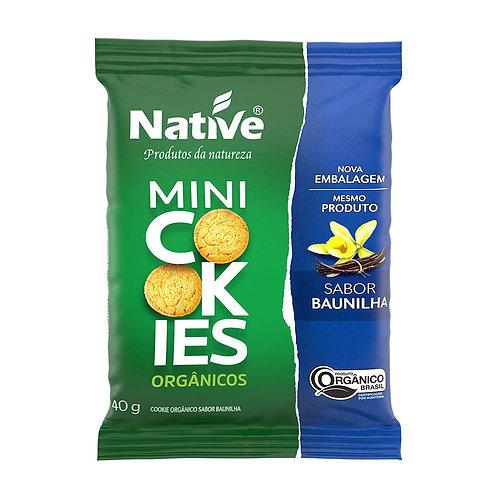 Mini Cookies sabor Baunilha 40g Native
