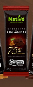 Chocolate Orgânico 75% Cacau 25 g Native