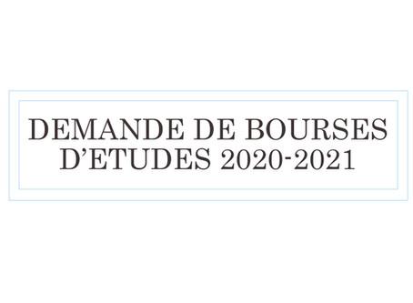 Campagne de Bourses 2020/2021