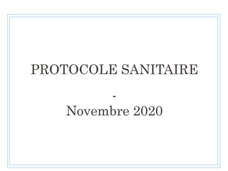 Protocole sanitaire - Novembre 2020