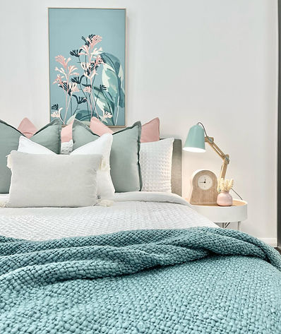 Bedroom styling Sydney. Affordable home staging